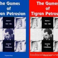 Coleccionismo deportivo: AJEDREZ THE GAMES OF TIGRAN PETROSIAN VOL.1, 1942-1965 Y VOL.2 1966-1983, SHEKHTMAN CHESS ECHECS. Lote 58611813