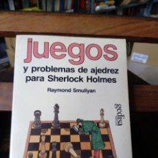 Coleccionismo deportivo: JUEGOS Y PROBLEMAS DE AJEDREZ PARA SHERLOCK HOLMES -RAYMOND SMULLYAN (COPIA RARA, PROMOCIONAL). Lote 58661965