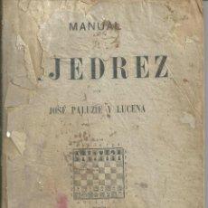 Coleccionismo deportivo: MANUAL DE AJEDREZ - PALUZÍE Y LUCENA - PARTE 5ª PROBLEMAS. BARCELONA 1947 IMPRENTA ELZEVIRIANA. Lote 60082555