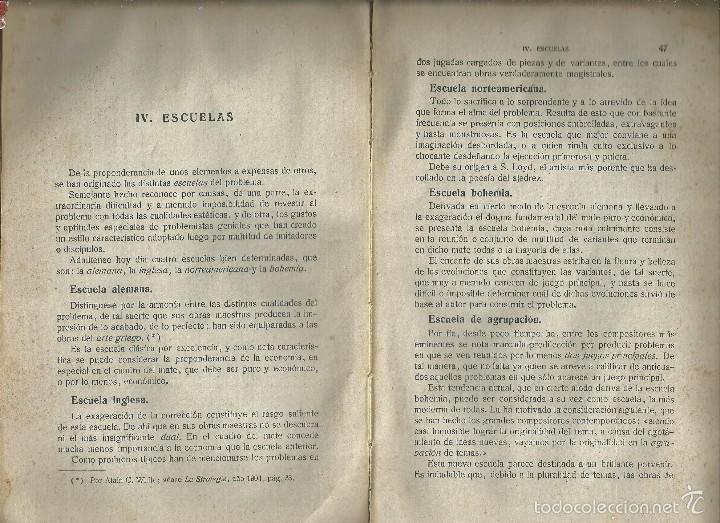 Coleccionismo deportivo: MANUAL DE AJEDREZ - PALUZÍE Y LUCENA - PARTE 5ª PROBLEMAS. BARCELONA 1947 IMPRENTA ELZEVIRIANA - Foto 4 - 60082555