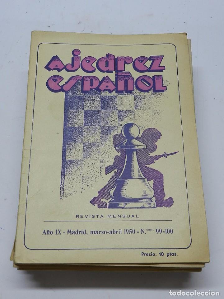 REVISTA AJEDREZ ESPAÑOL MADRID, MARZO-ABRIL 1950 - NUM. 99-100. TIENE 56 PAGINAS Y MIDE 24 X 17 CMS (Coleccionismo Deportivo - Libros de Ajedrez)