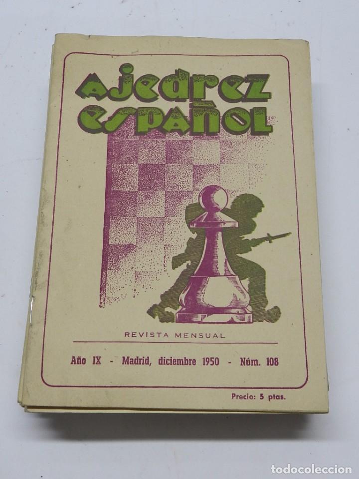 REVISTA AJEDREZ ESPAÑOL DICIEMBRE 1950 - NUM. 108. TIENE 56 PAGINAS Y MIDE 24 X 17 CMS. (Coleccionismo Deportivo - Libros de Ajedrez)