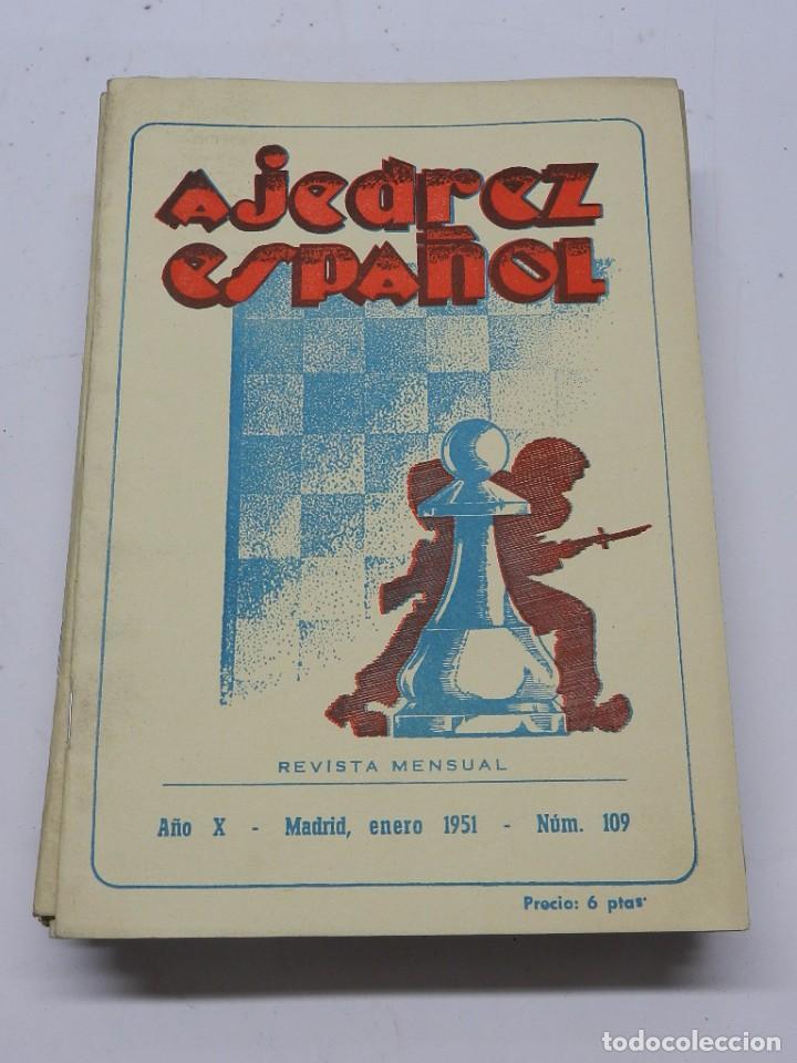 REVISTA AJEDREZ ESPAÑOL ENERO 1951 - NUM. 109. TIENE 56 PAGINAS Y MIDE 24 X 17 CMS. (Coleccionismo Deportivo - Libros de Ajedrez)