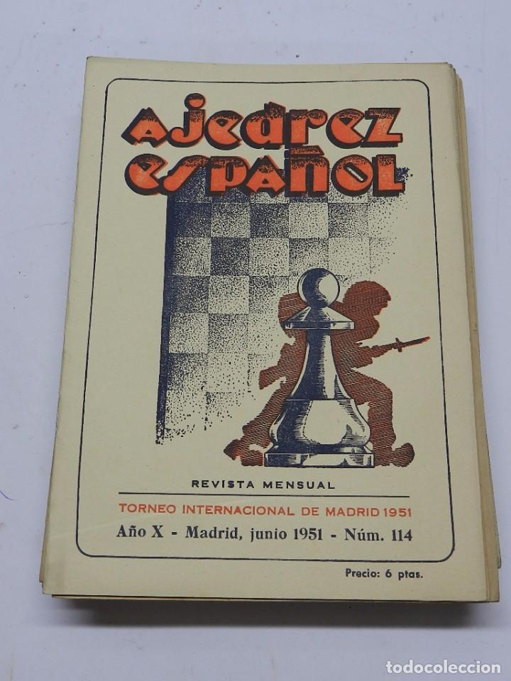 REVISTA AJEDREZ ESPAÑOL JUNIO 1951 - NUM. 114. TIENE 56 PAGINAS Y MIDE 24 X 17 CMS. (Coleccionismo Deportivo - Libros de Ajedrez)