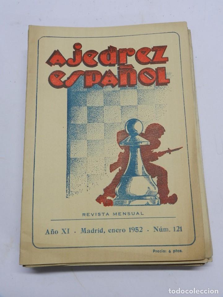 REVISTA AJEDREZ ESPAÑOL ENERO 1952 - NUM. 121 TIENE 56 PAGINAS Y MIDE 24 X 17 CMS. (Coleccionismo Deportivo - Libros de Ajedrez)