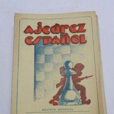 Coleccionismo deportivo: REVISTA AJEDREZ ESPAÑOL ENERO 1952 - NUM. 121 TIENE 56 PAGINAS Y MIDE 24 X 17 CMS.. Lote 63098572