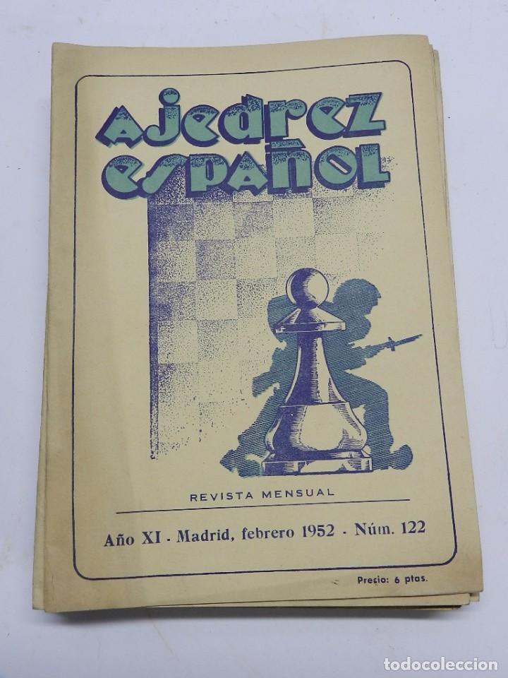 REVISTA AJEDREZ ESPAÑOL FEBRERO 1952 - NUM. 122 TIENE 56 PAGINAS Y MIDE 24 X 17 CMS. (Coleccionismo Deportivo - Libros de Ajedrez)
