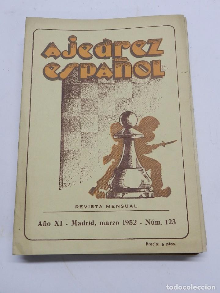 REVISTA AJEDREZ ESPAÑOL MARZO 1952 - NUM. 123 TIENE 56 PAGINAS Y MIDE 24 X 17 CMS. (Coleccionismo Deportivo - Libros de Ajedrez)