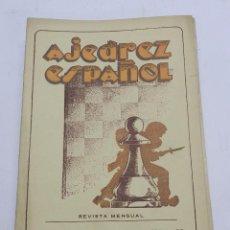 Coleccionismo deportivo: REVISTA AJEDREZ ESPAÑOL MARZO 1952 - NUM. 123 TIENE 56 PAGINAS Y MIDE 24 X 17 CMS.. Lote 63098780
