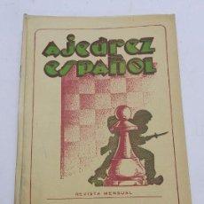 Coleccionismo deportivo: REVISTA AJEDREZ ESPAÑOL DICIEMBRE 1952 - NUM. 132, TIENE 56 PAGINAS Y MIDE 24 X 17 CMS.. Lote 63099456