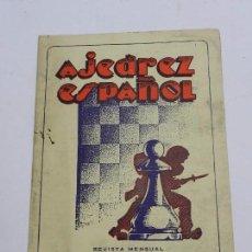 Coleccionismo deportivo: REVISTA AJEDREZ ESPAÑOL MAYO - JUNIO 1954 - NUM. 149 - 150, TIENE 56 PAGINAS Y MIDE 24 X 17 CMS.. Lote 63100896