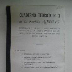 Colecionismo desportivo: CUADERNOS TEÓRICOS DE LA REVISTA AJEDREZ. Nº 3 (COPIA). Lote 68022653