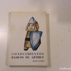 Coleccionismo deportivo: CONOCIMIENTOS BÁSICOS DE AJEDREZ (JULIO GANZO). Lote 88353984