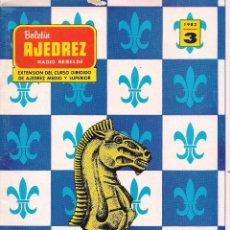 Coleccionismo deportivo: BOLETÍN AJEDREZ RADIO REBELDE # 3 / 1982 / TORNEO DE LINARES ~ CAMPEONATO DE LA URSS ~ MIKHAIL TAL. Lote 279470848