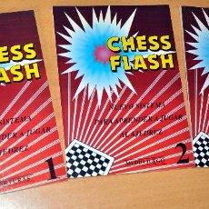 Coleccionismo deportivo: OBRA COMPLETA EN 3 TOMOS: CHESS FLASH - NUEVO SISTEMA PARA APRENDER AJEDREZ - EDITORIAL ALAS 1995. Lote 71594015