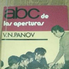Coleccionismo deportivo: C62 LIBRO AJEDREZ ABC DE LAS APERTURAS PANOV ESCAQUES MR MARTINEZ ROCA. Lote 72329125