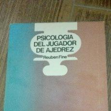 Coleccionismo deportivo: C62 LIBRO PSICOLOGIA DEL JUGADOR DE AJEDREZ REUBEN FINE ESCAQUES MR MARTINEZ ROCA. Lote 72334457