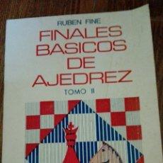 Coleccionismo deportivo: C62 LIBRO FINALES BASICOS DE AJEDREZ TOMO II RUBEN FINE SOPENA. Lote 72335613