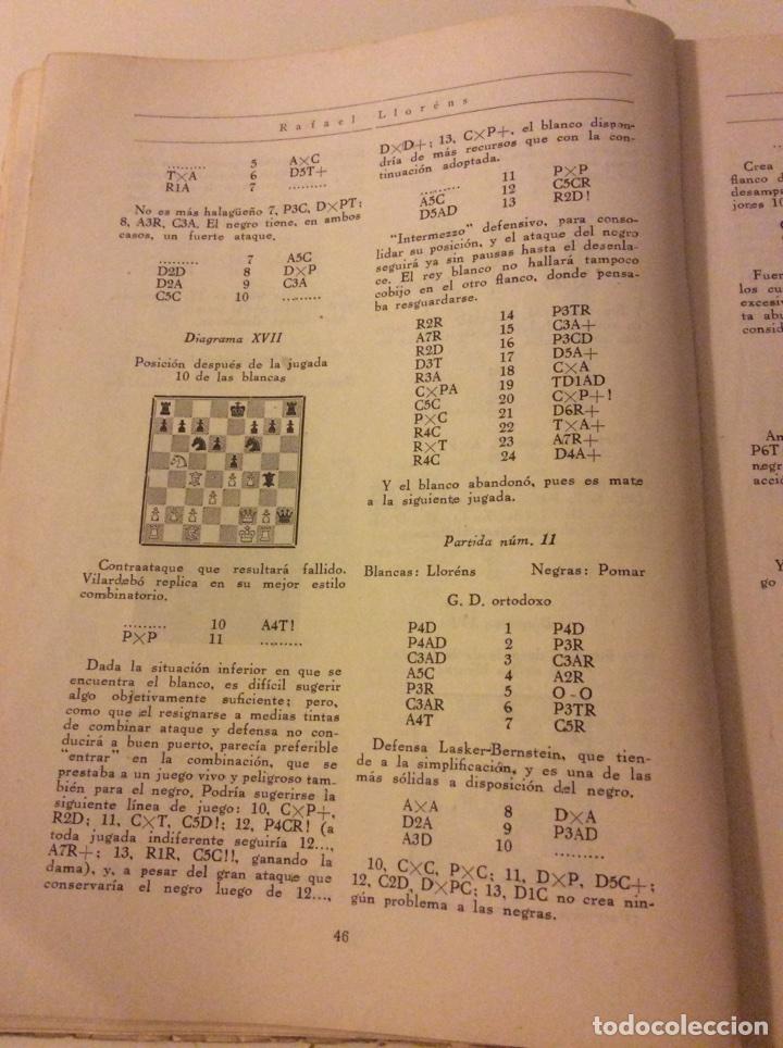 Coleccionismo deportivo: Magnifico libro Torneo Internacional Ajedrez Barcelona 1946 Rafael Llorens - Foto 3 - 158956536
