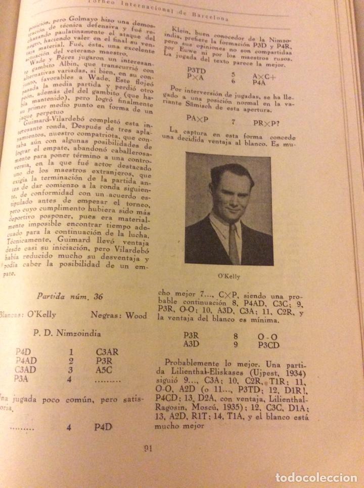 Coleccionismo deportivo: Magnifico libro Torneo Internacional Ajedrez Barcelona 1946 Rafael Llorens - Foto 5 - 158956536