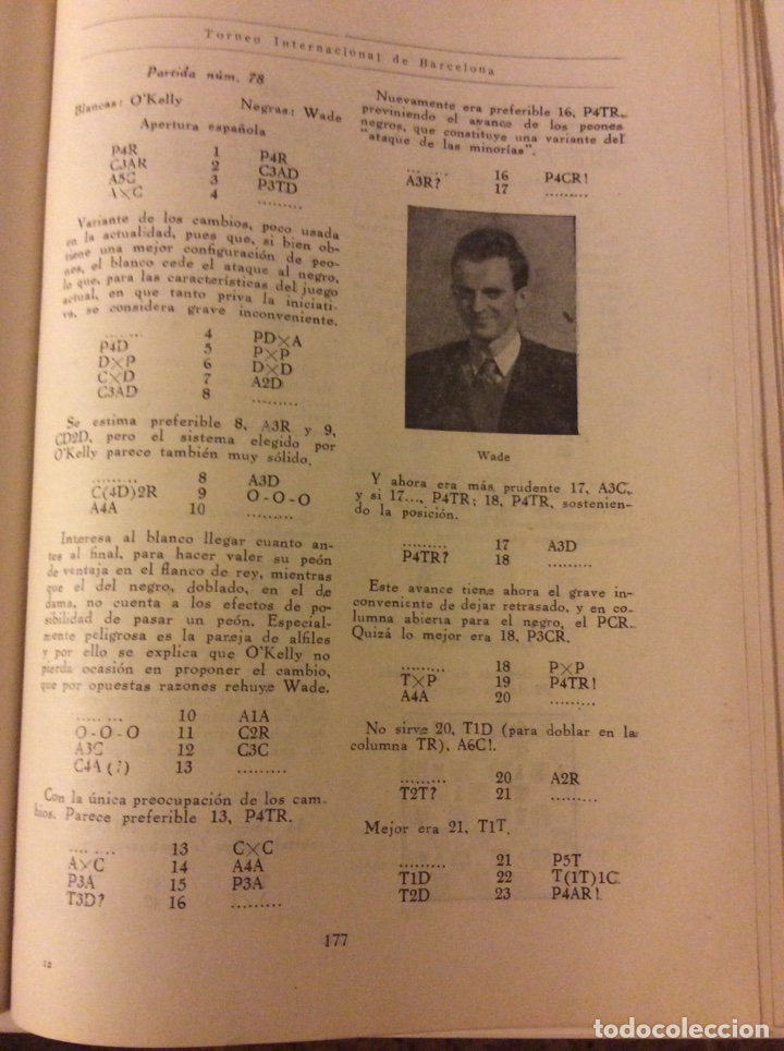 Coleccionismo deportivo: Magnifico libro Torneo Internacional Ajedrez Barcelona 1946 Rafael Llorens - Foto 6 - 158956536