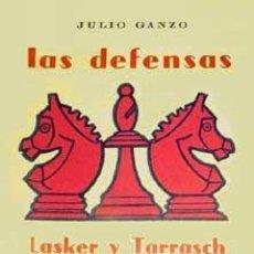 Coleccionismo deportivo: AJEDREZ. GANZO. LAS DEFENSAS LASKER Y TARRASCH. Lote 75105459