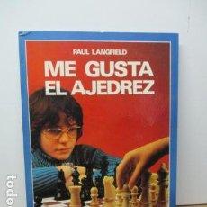Coleccionismo deportivo: ME GUSTA EL AJEDREZ (SUCCESFUL CHESS) - PAUL LANGFIELD - ED. MOLINO - 1977 (EXCELENTE ESTADO) . Lote 80327153