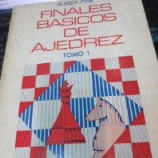 Coleccionismo deportivo: FINALES BASICOS DE AJEDREZ TOMO 1 RUBEN FINE EDIT SOPENA AÑO 1974. Lote 83914972