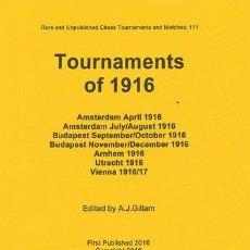 Coleccionismo deportivo: AJEDREZ. CHESS. TOURNAMENTS OF 1916 - JOSE R. CAPABLANCA/A.J. GILLAM DESCATALOGADO!!!. Lote 86383220