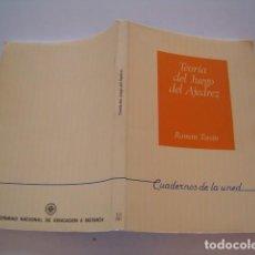Coleccionismo deportivo: ROMÁN TORÁN. TEORÍA DEL JUEGO DEL AJEDREZ. RM80634. . Lote 86406644