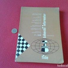 Coleccionismo deportivo: LIBRO DE AJEDREZ CHESS BOOK SAHOVSKI INFORMATOR FIDE 27 1979 PARTIDAS MAESTROS GAMES VER FOTO/S Y DE. Lote 88787032