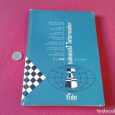 Coleccionismo deportivo: LIBRO DE AJEDREZ CHESS BOOK SAHOVSKI INFORMATOR FIDE 24 1978 PARTIDAS MAESTROS GAMES VER FOTO/S Y DE. Lote 88831760
