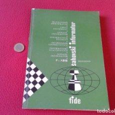Coleccionismo deportivo: LIBRO DE AJEDREZ CHESS BOOK SAHOVSKI INFORMATOR FIDE 26 1978 PARTIDAS MAESTROS GAMES VER FOTO/S Y DE. Lote 88832564