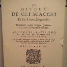 Coleccionismo deportivo: AJEDREZ - IL GIUOCO DE GLI SCACCHI - RUI LOPEZ DE SEGURA - FACSIMIL VENEZIA, 1584. Lote 89826840