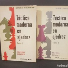 Coleccionismo deportivo: TÁCTICA MODERNA EN AJEDREZ 2 TOMOS,LUDEK PACHMAN. Lote 90454984