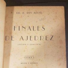 Coleccionismo deportivo: FINALES DE AJEDREZ(TEORIA Y PRÁCTICA)TOMO I,REYES Y PEONES,DR.R.REY ARDID,ZARAGOZA 1944.. Lote 90549535
