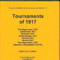 Coleccionismo deportivo: AJEDREZ. CHESS. TOURNAMENTS OF 1917 - A.J. GILLAM DESCATALOGADO!!!. Lote 92872825
