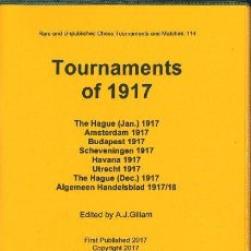 Coleccionismo deportivo: AJEDREZ. CHESS. TOURNAMENTS OF 1917 - A.J. GILLAM. Lote 92872825