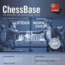 Coleccionismo deportivo: AJEDREZ. CHESS. CHESSBASE MAGAZINE 179. AUGUST/SEPTEMBER 2017 -THE CHESSBASE TEAM DVD. Lote 94755591