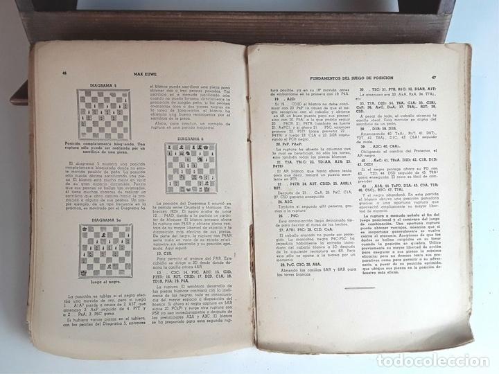 Coleccionismo deportivo: FUNDAMENTOS DEL JUEGO DE POSICIÓN. MAX EUWE. EDITORIAL GRABO. 1941. - Foto 4 - 95106995