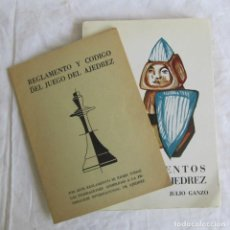 Coleccionismo deportivo: CONOCIMIENTOS BÁSICOS DE AJEDREZ + REGLAMENTO Y CÓDIGO DEL JUEGO DE AJEDREZ. Lote 95676019