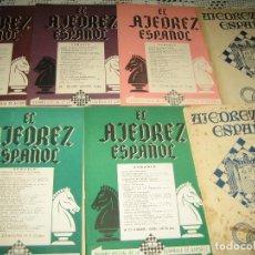 Coleccionismo deportivo: EL AJEDREZ ESPAÑOL AÑOS 40-50 - LOTE DE 7 LIBROS . Lote 96881911