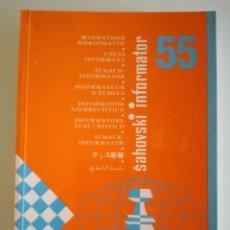 Coleccionismo deportivo: AJEDREZ. INFORMADOR AJEDRECÍSTICO - SAHOVSKI INFORMATOR 55 VI-IX 1992 FIDE CON TODAS LAS PARTIDAS. Lote 184682195