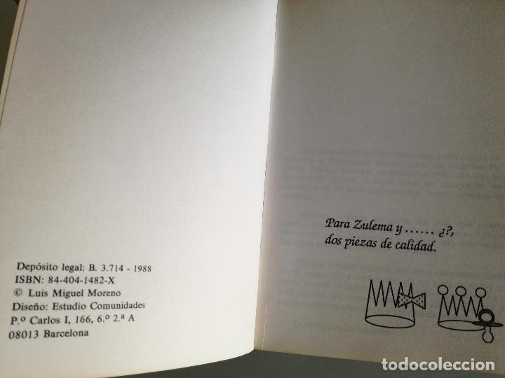 Coleccionismo deportivo: CAMPEONATO DEL MUNDO DE AJEDREZ. SEVILLA 87. TODOS LOS TABLEROS - LUIS MIGUEL MORENO 1988 - Foto 2 - 97067287