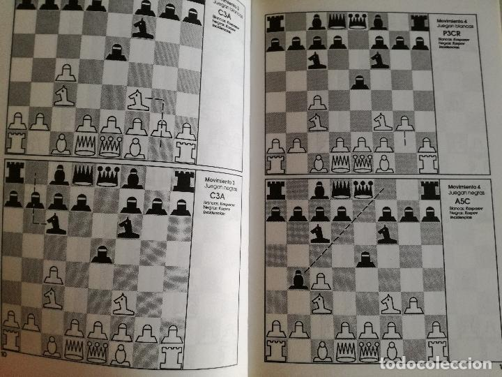 Coleccionismo deportivo: CAMPEONATO DEL MUNDO DE AJEDREZ. SEVILLA 87. TODOS LOS TABLEROS - LUIS MIGUEL MORENO 1988 - Foto 3 - 97067287