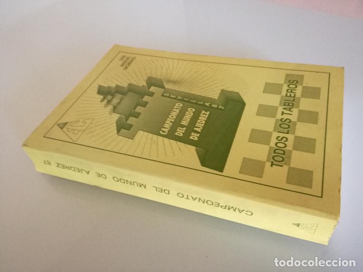 Coleccionismo deportivo: CAMPEONATO DEL MUNDO DE AJEDREZ. SEVILLA 87. TODOS LOS TABLEROS - LUIS MIGUEL MORENO 1988 - Foto 6 - 97067287