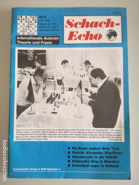 REVISTA AJEDREZ ALEMANA SCHACH-ECHO Nº 6 JUNIO 1990 (Coleccionismo Deportivo - Libros de Ajedrez)