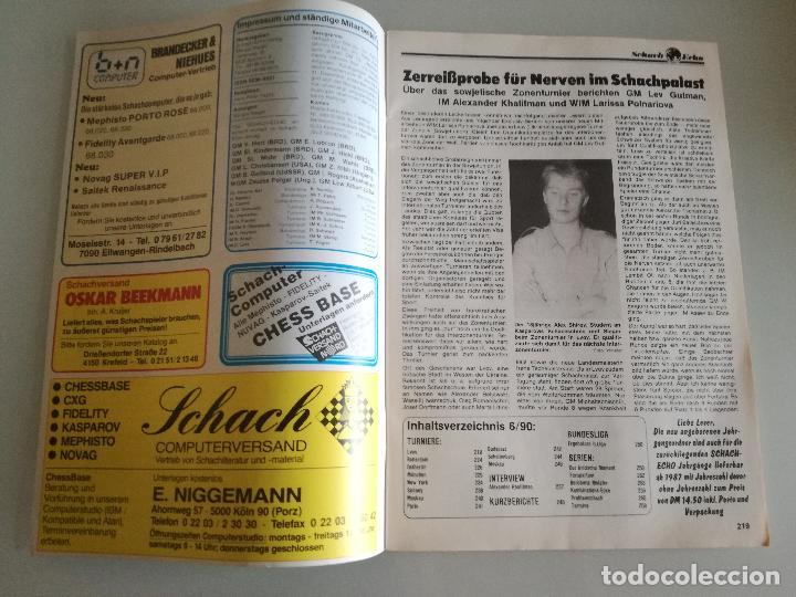 Coleccionismo deportivo: REVISTA AJEDREZ ALEMANA SCHACH-ECHO Nº 6 JUNIO 1990 - Foto 2 - 97068203