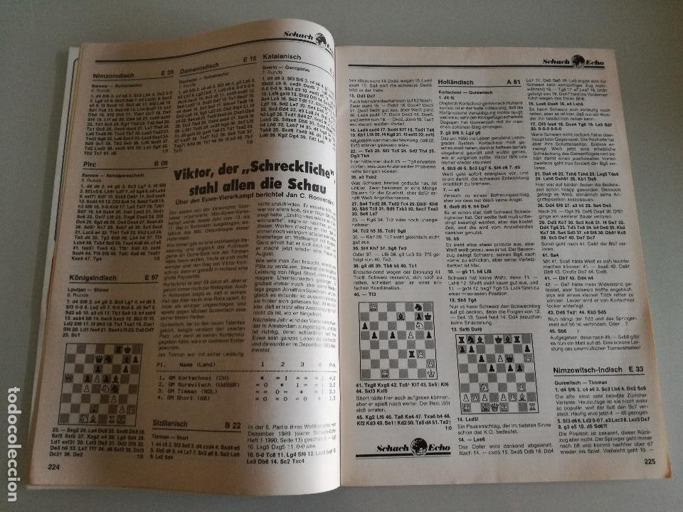 Coleccionismo deportivo: REVISTA AJEDREZ ALEMANA SCHACH-ECHO Nº 6 JUNIO 1990 - Foto 3 - 97068203