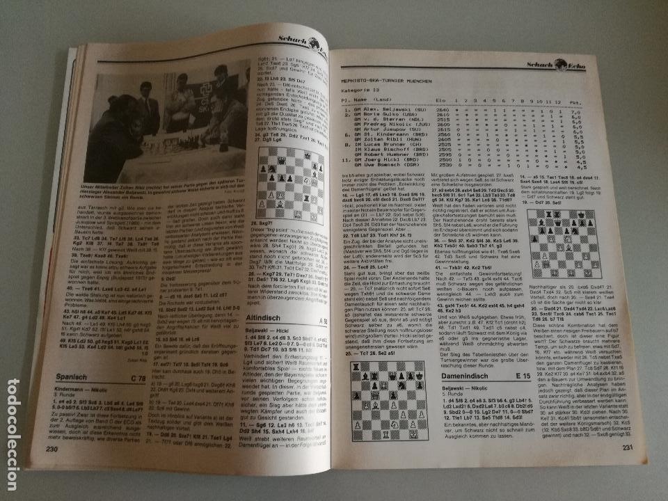 Coleccionismo deportivo: REVISTA AJEDREZ ALEMANA SCHACH-ECHO Nº 6 JUNIO 1990 - Foto 4 - 97068203